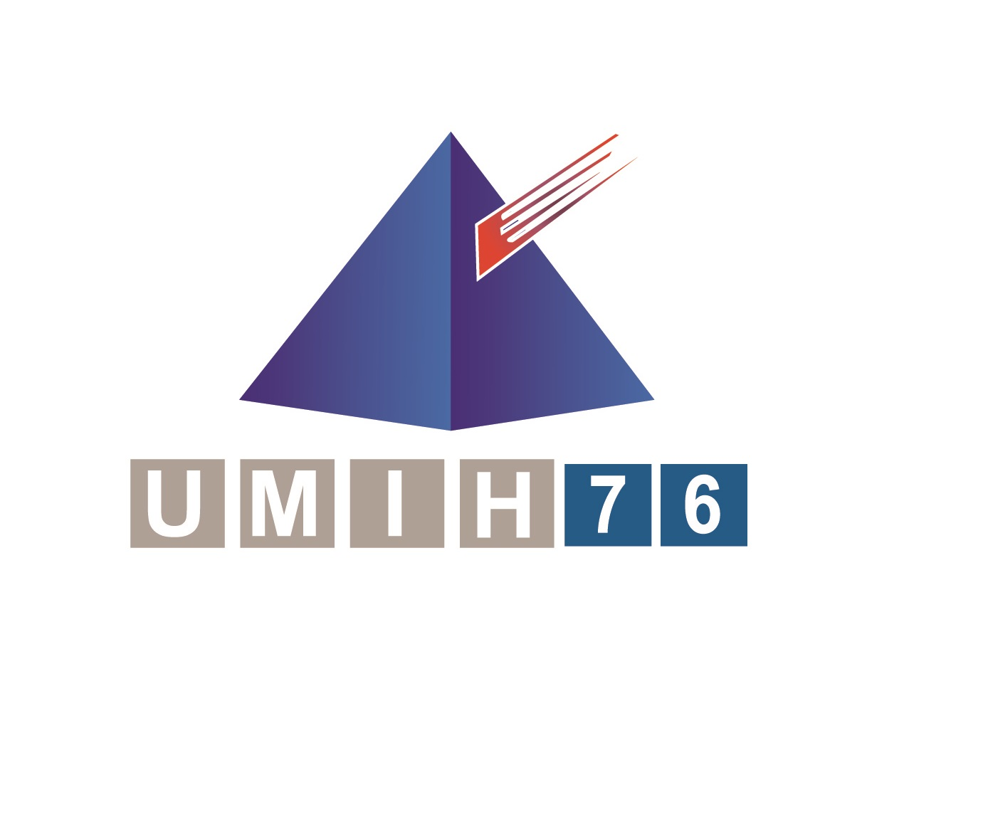 Logo umih 76 - lettres bleues