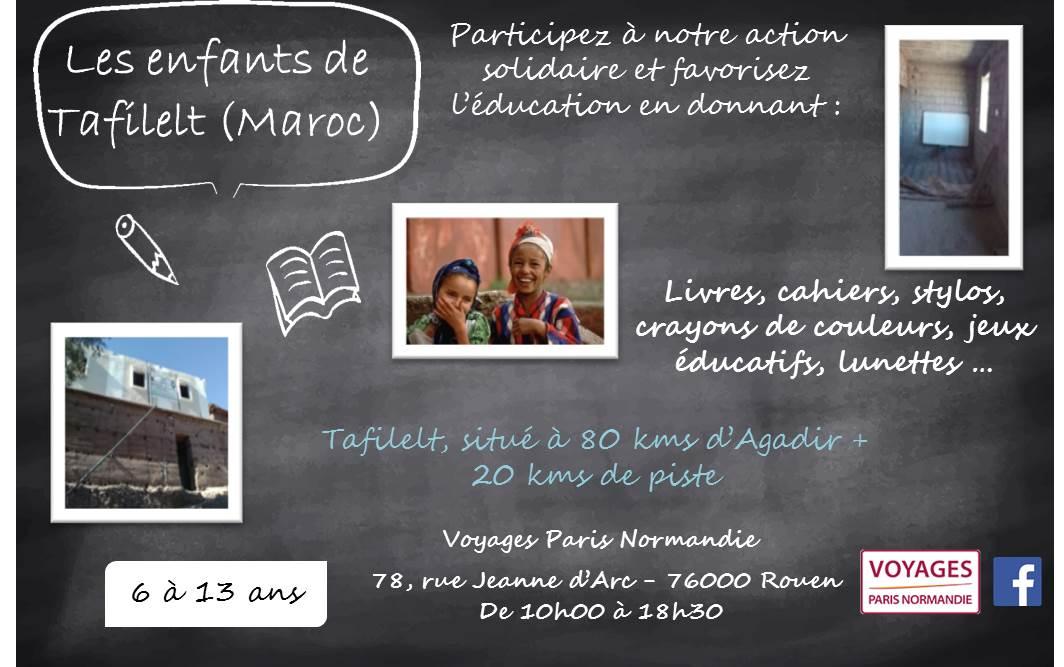 Action solidaire pour les enfants du Maroc