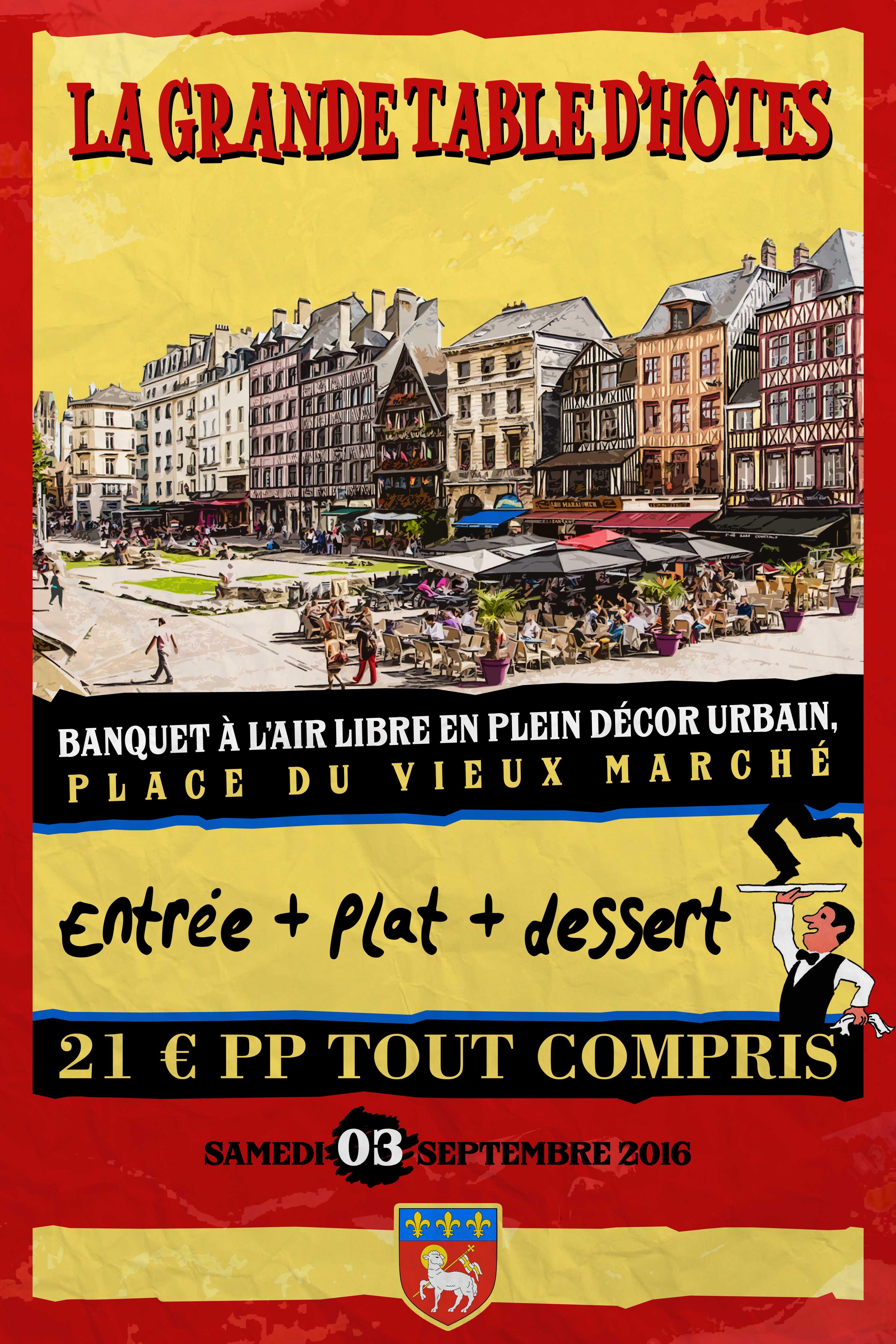 LA GRANDE TABLE D'HÔTES – Place du Vieux Marché